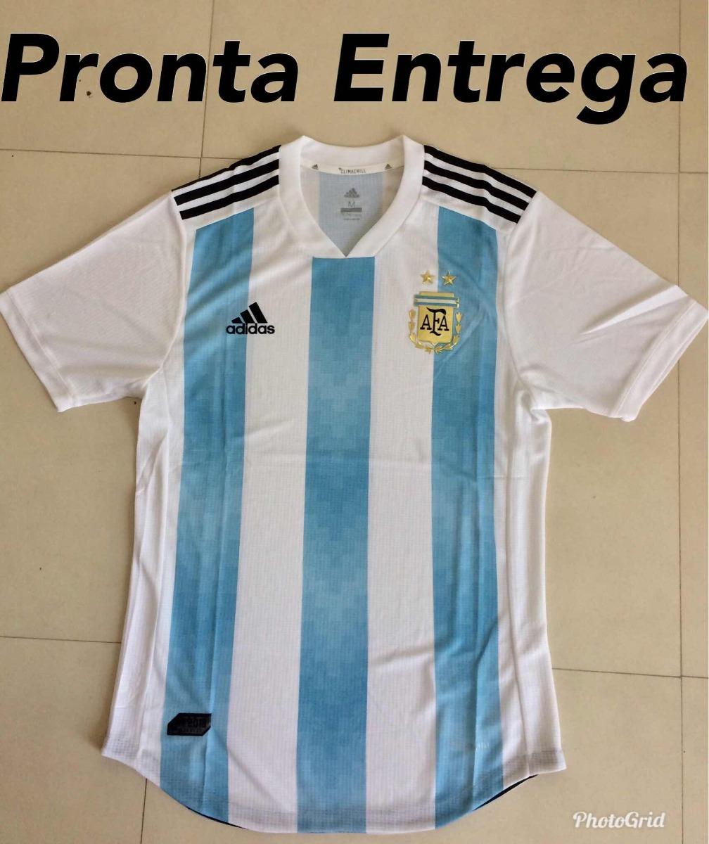 84ab9f3014 Camisa Da Argentina Oficial 2018 Versão Jogador Fotos Reais - R  120 ...