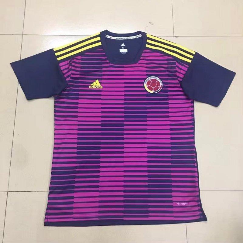 eef6e9a0f camisa da colômbia rosa de treino - copa 2018. Carregando zoom.