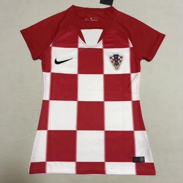 7091101952 Camisa Da Croácia Feminina - Frete Grátis - R  119