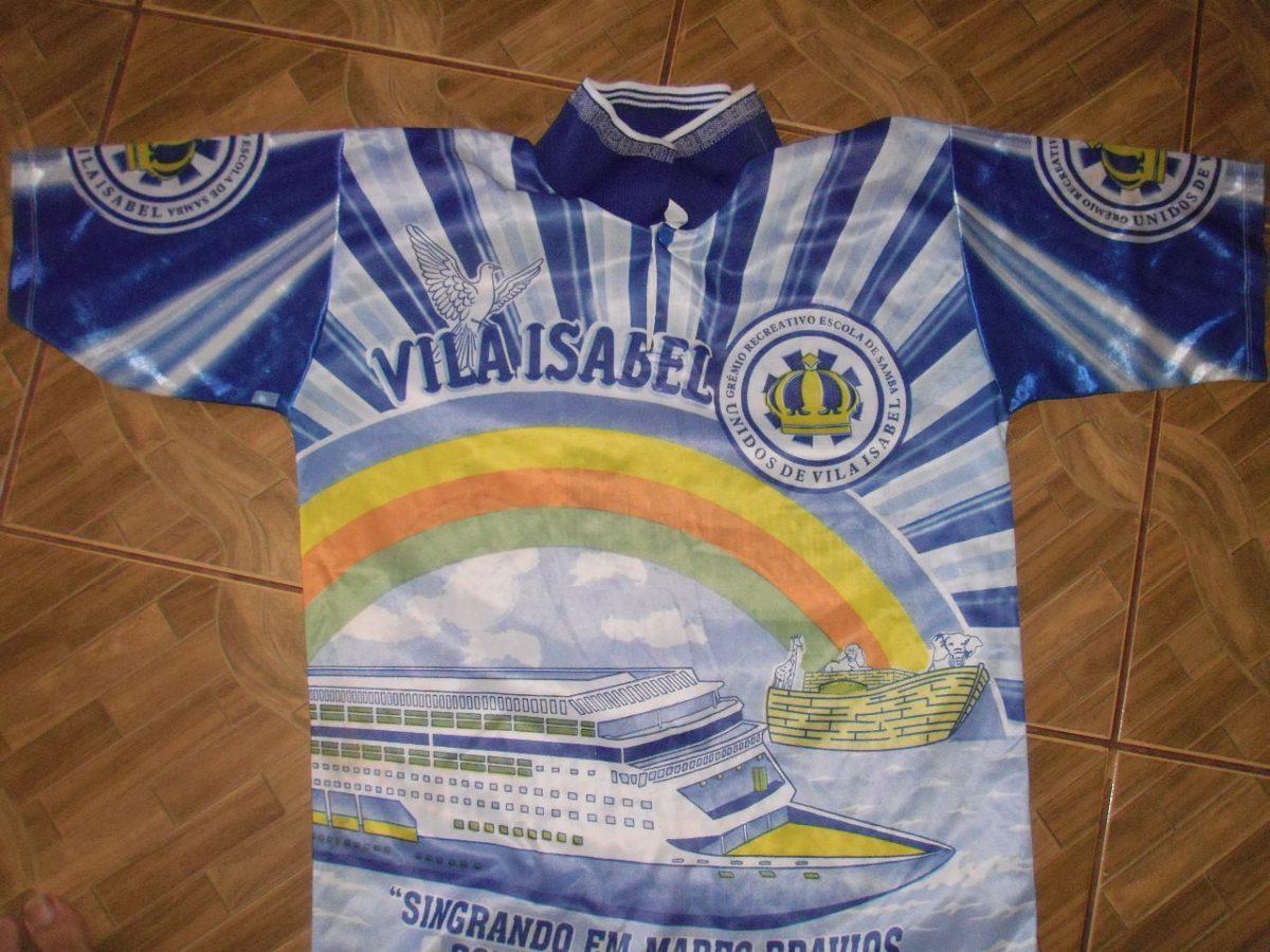 Camisa Da Escola De Sama Unidos De Vila Isabel - R  25 cb10864faade5