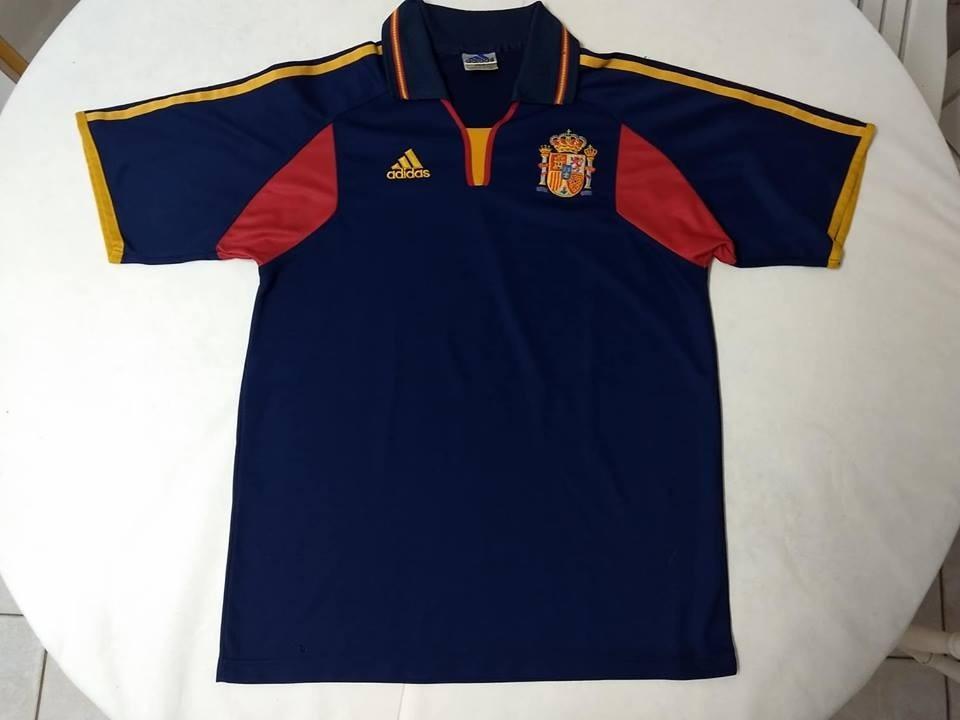 Camisa Da Espanha - Azul Ano 2000 adidas - Seleção Espanhola - R ... c6d6a296fbace