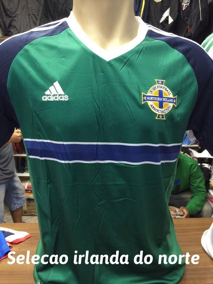 9bcb36a7ed Camisa Da Irlanda Do Norte Oficial Sem Nome E Sem Numero - R  139