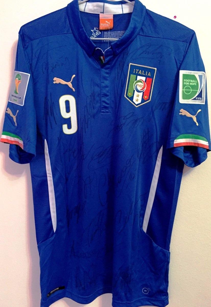 089f819ce5 Camisa Da Itália Copa Do Mundo 2014 Autografada Todo Elenco - R$ 640 ...
