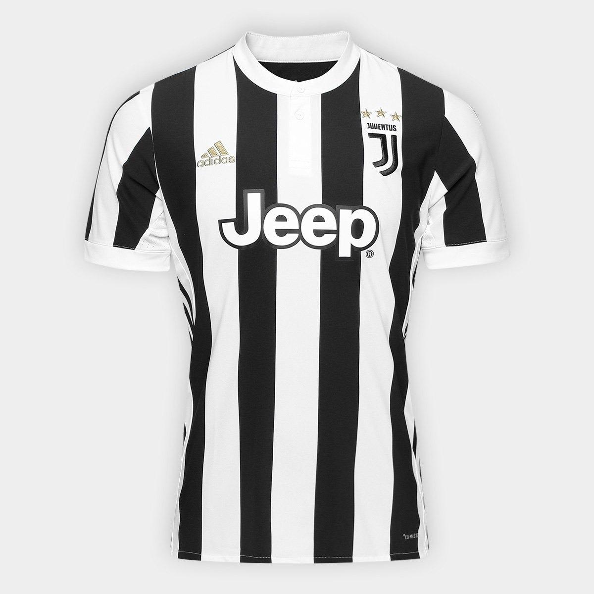 camisa da juventus itália juve nova branca preta 2018. Carregando zoom. a189d370ab0dc