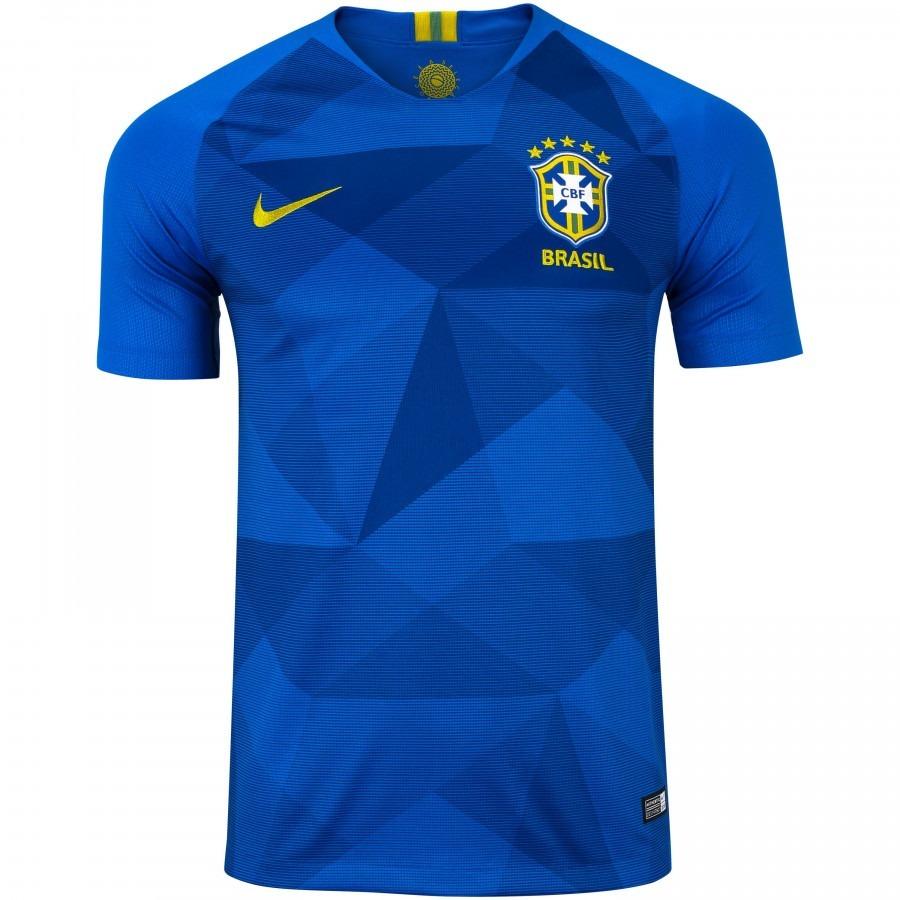 872dc23b0b camisa da seleção brasileira azul 2018 nik pronta entrega. Carregando zoom.