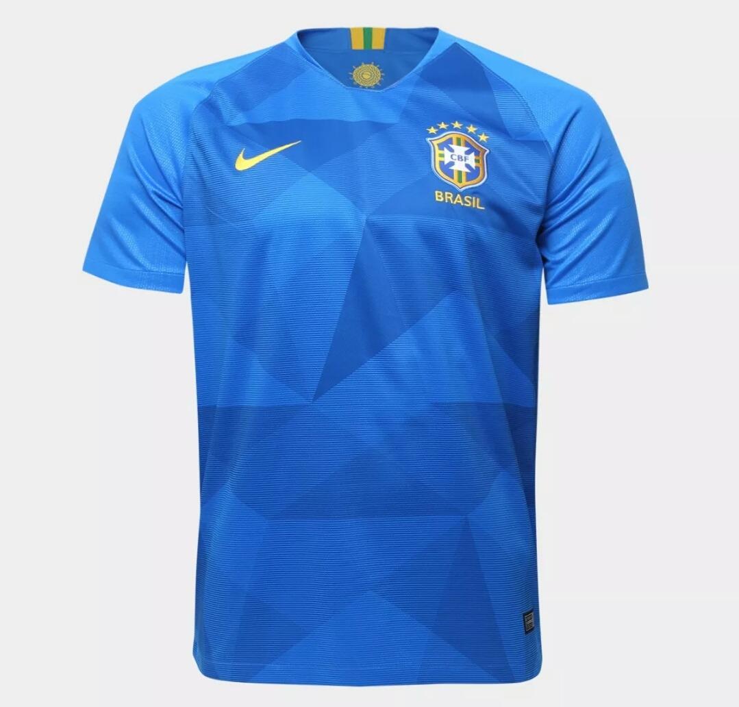 854b947222 camisa da seleção brasileira copa 2018 azul - nike. Carregando zoom.