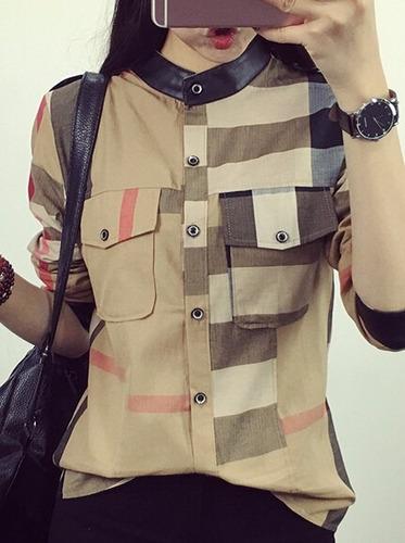 camisa dama con cuadros (por encargue)