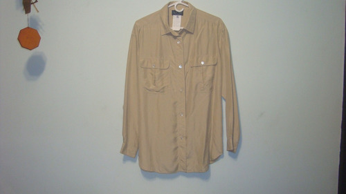 camisa dama, italiana de seda afamada marca les copains 46
