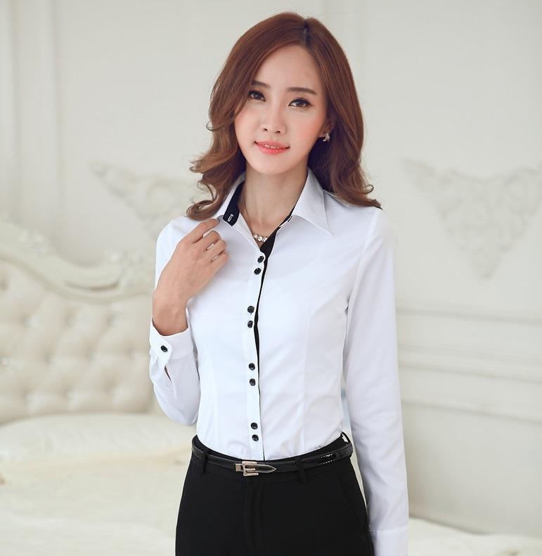 144355a1b4a36 Camisa Dama Manga Larga  2 Algodon Office - Bs. 43