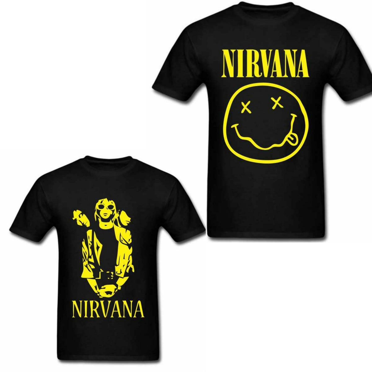 431d4e19db Camisa De Banda Nirvana Kurt Cobain Rock Roll Varias Opções - R  72 ...
