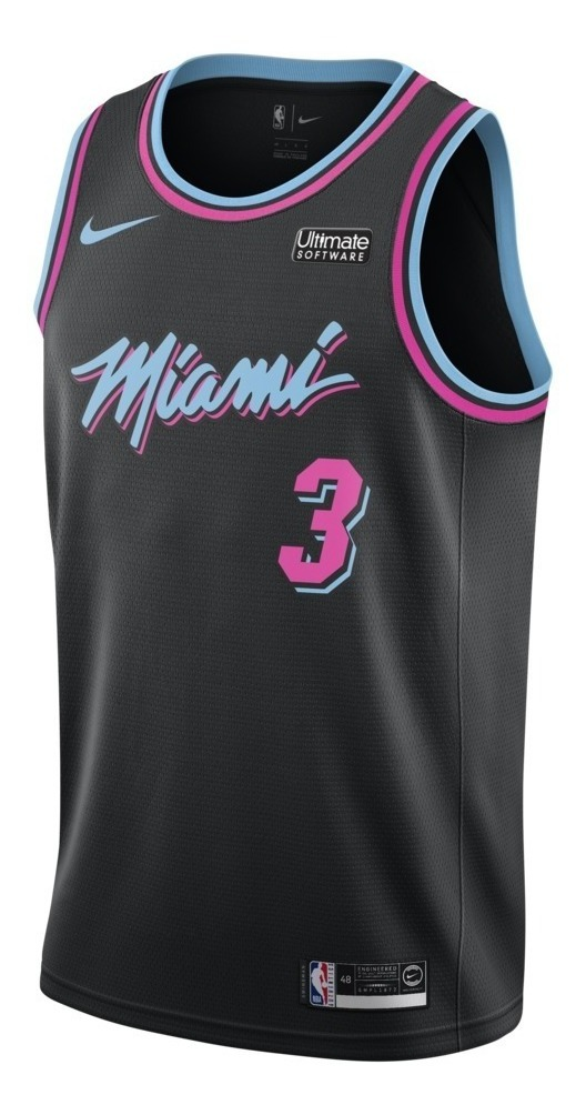 wholesale dealer d9457 09709 Camisa De Basquete Nike Nba Miami Heat Vice Black