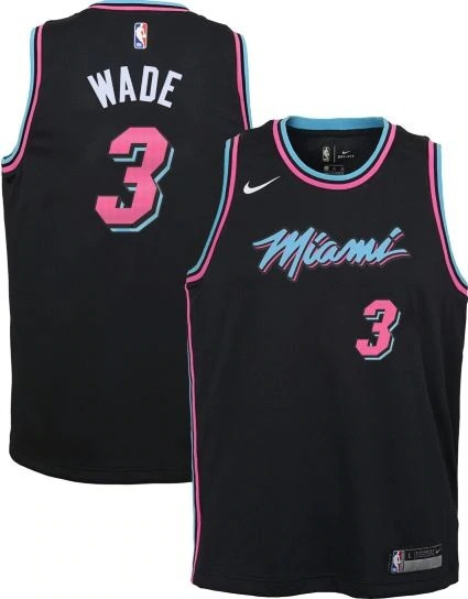 timeless design 506ec 6f8e8 Camisa De Basquete Nike Nba Miami Heat Vice Black G