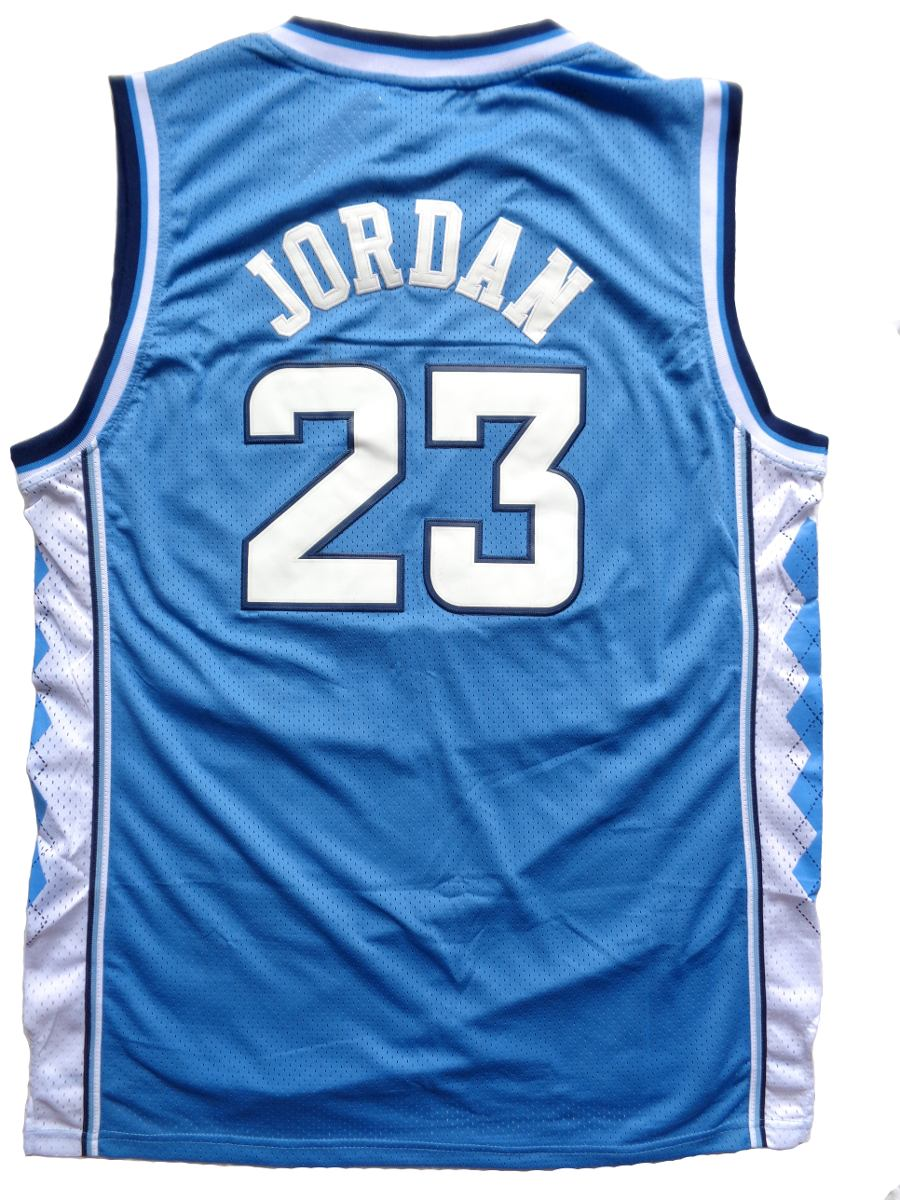 a17975570 camisa de basquete north carolina - 23 - michael jordan azul. Carregando  zoom.