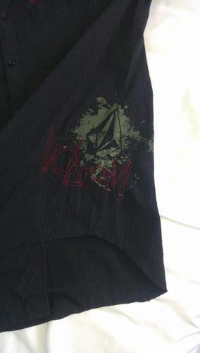 camisa de caballero fashion volcom color negra / m