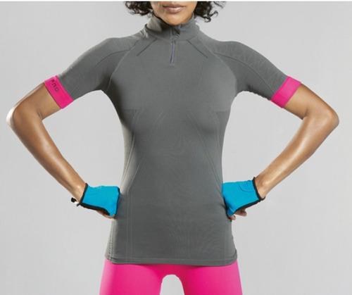 camisa de ciclismo lupo pro cycle feminina - grafite