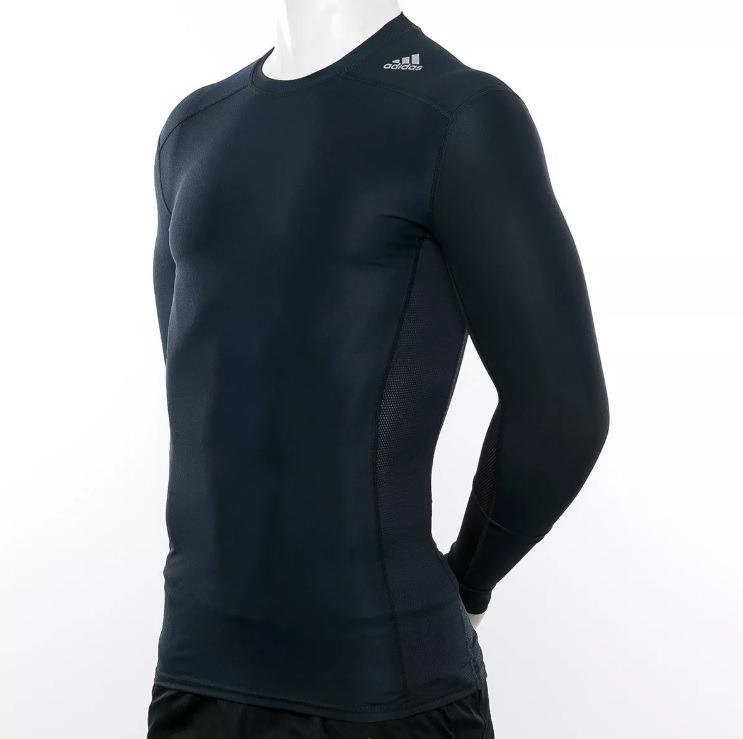7419929264316 Camisa De Compressão adidas Techfit Chill Ls Manga Longa - R  129