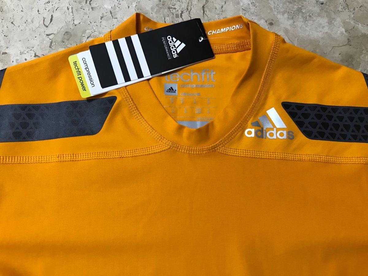 4001ffbaae628 camisa de compressão adidas techfit chill masculina amarela. Carregando  zoom.