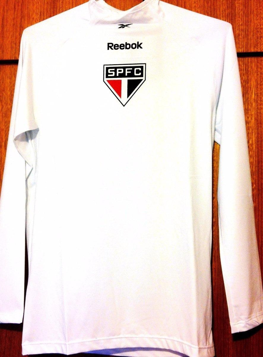 camisa de compressão do são paulo branca reebok. Carregando zoom. 18bdbcf060f4b