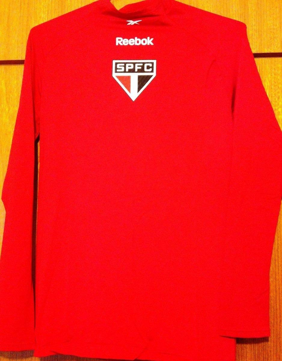 camisa de compressão do são paulo vermelha reebok. Carregando zoom. 4edd8d04f3906