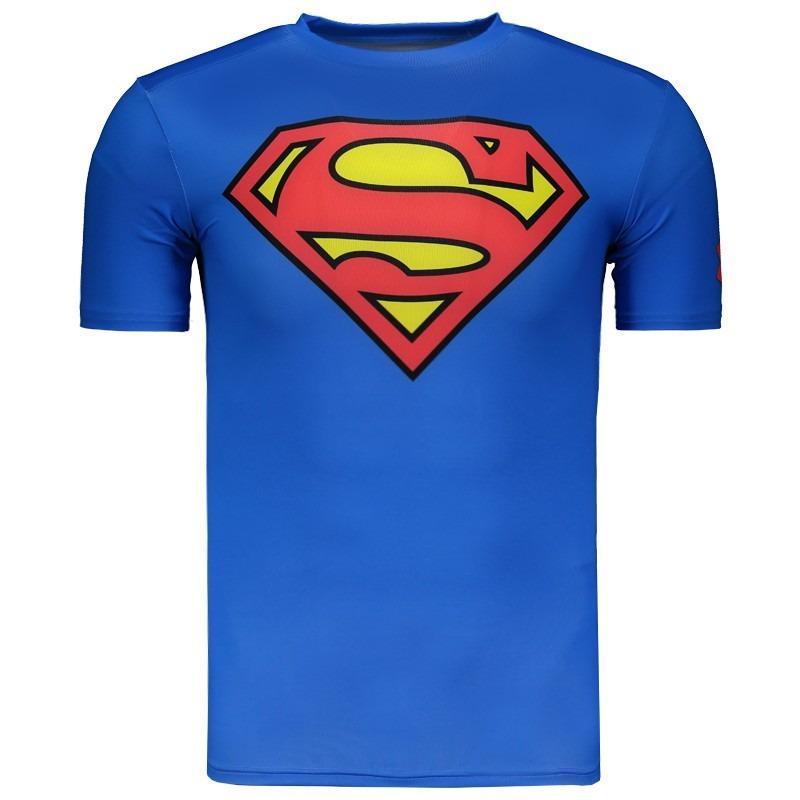 ed7160e186cea camisa de compressão under armour superman azul. Carregando zoom.