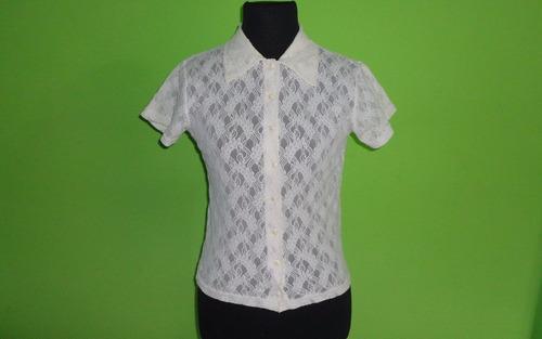 camisa de encaje