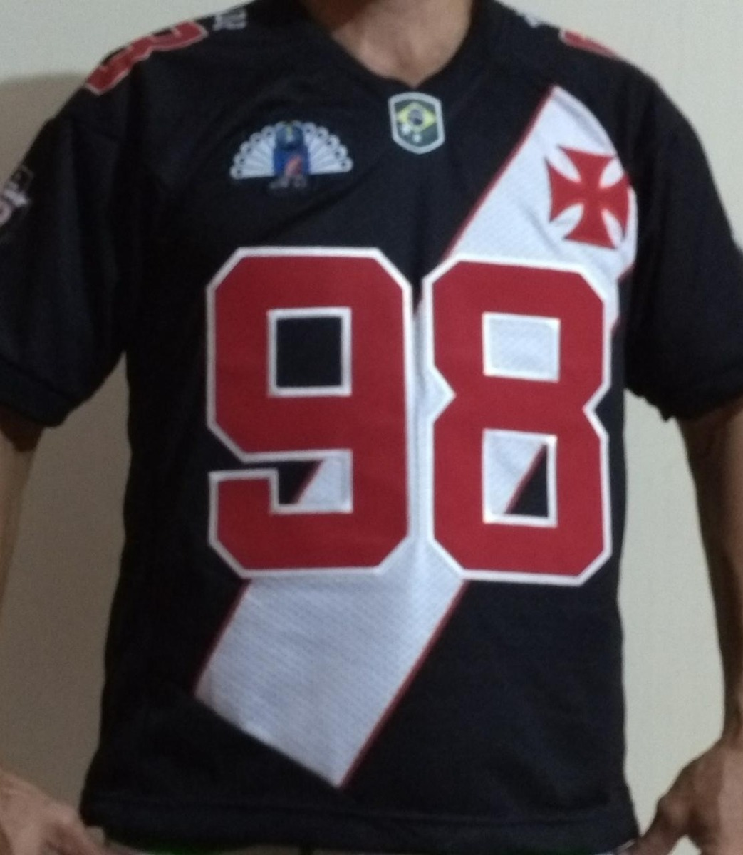 1dea5768e8811 Camisa de futebol americano do vasco bordada carregando zoom jpg 1043x1200  Camisetas de football americano