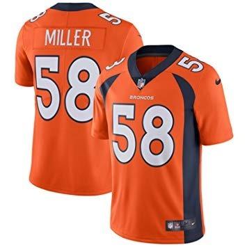 f43a6355b Camisa De Futebol Americano Nlf Denver Broncos Miller - R  159