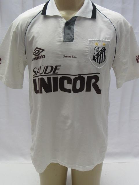 Camisa De Futebol Antiga Santos F.c. Modelo 1997  10 Umbro - R  67 ... e8f3f8847b617