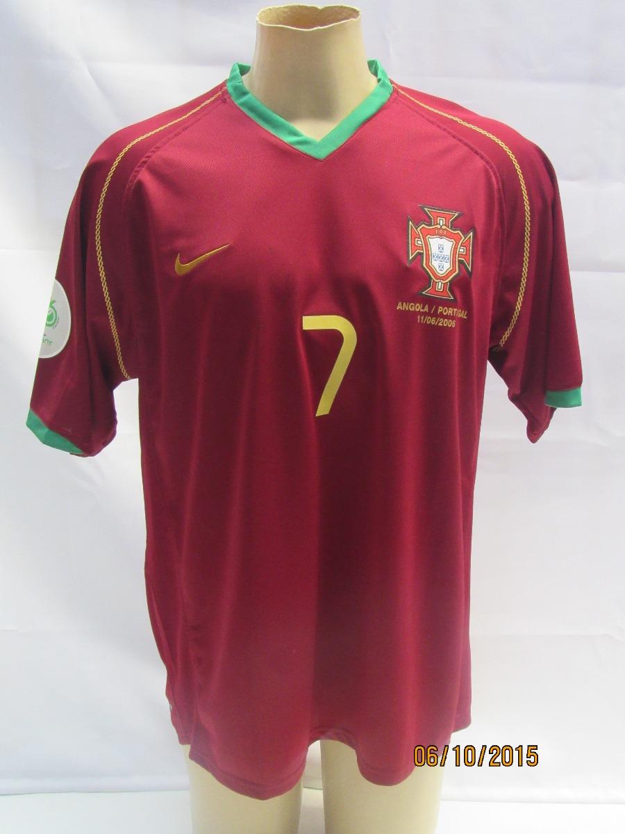 Camisa De Futebol Da Seleção Portugal Copa 06 - Figo  7 - R  169 021d69e112b7f