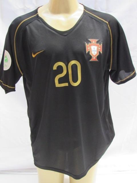 9a19557a79 Camisa De Futebol Portugal  20 Deco - Patch Copa 2006 Preta - R  159 ...