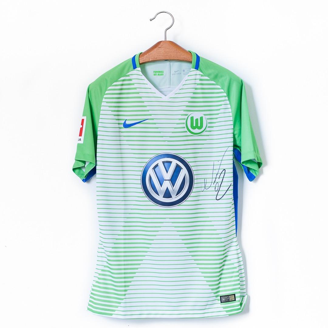 d360e40411 Camisa De Futebol Wolfsburg 17 18 Nike Usada Em Jogo William - R ...