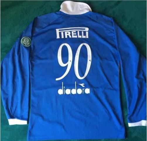 Camisa De Goleiro Comemorativa 90 Anos Palmeiras 2004 - R  1.600 b0288fb56064a