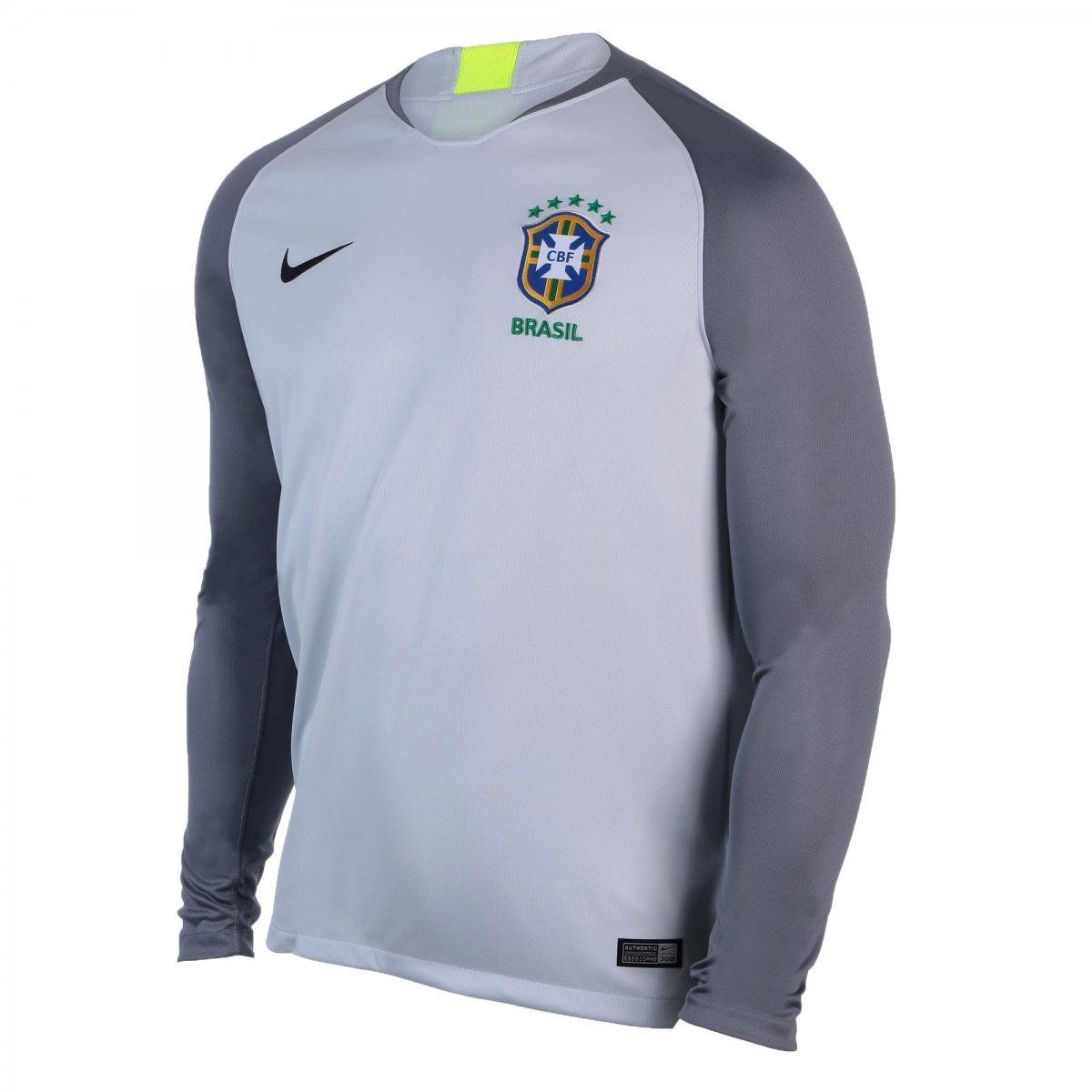 d124f80063 Camisa De Goleiro Nike Brasil 2018 19 893854