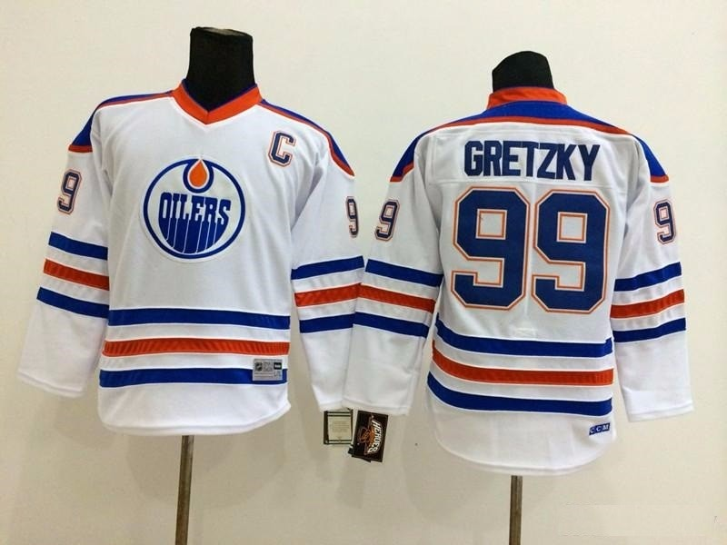 camisa de hockey edmonton oilers wayne gretzky leia o anunci. Carregando  zoom. 3e1c46ba075