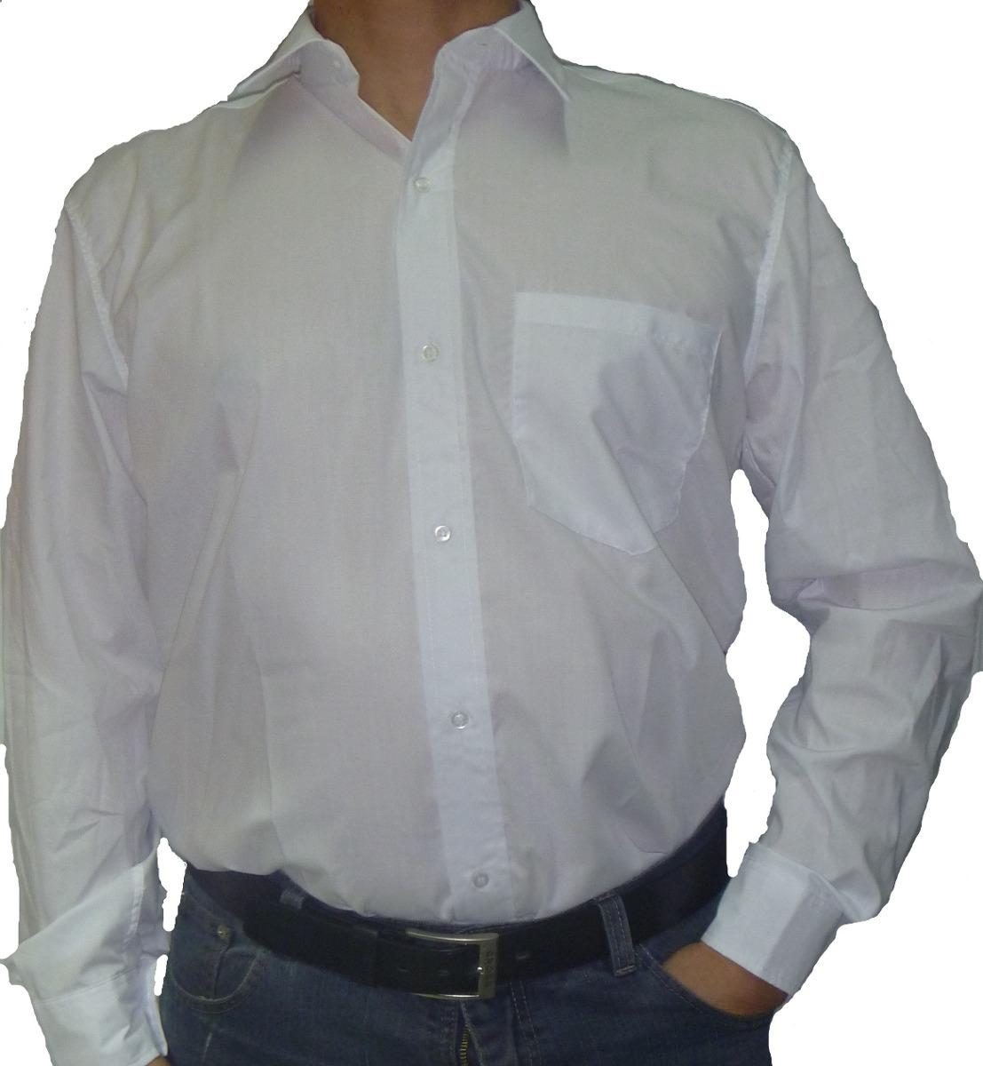 555626122f33f Camisa De Hombre Clasica De Vestir C. Bolsillo Envios -   499
