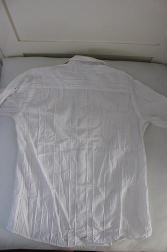 camisa de hombre manga larga talle s blanca marca forum