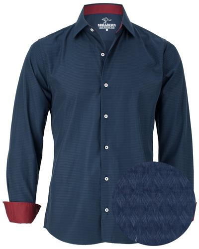 camisa de hombre modelo new england  modern fit  soul &
