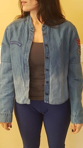 camisa de jean con parches marca kosiuko nueva