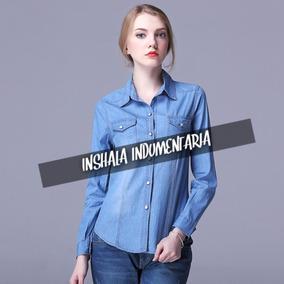 5e5541e501 Jeans Mujer Talle S - Camisas Manga Larga S Celeste en Mercado Libre ...