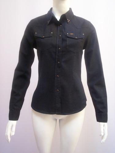 camisa de jean lee  para mujer entallada