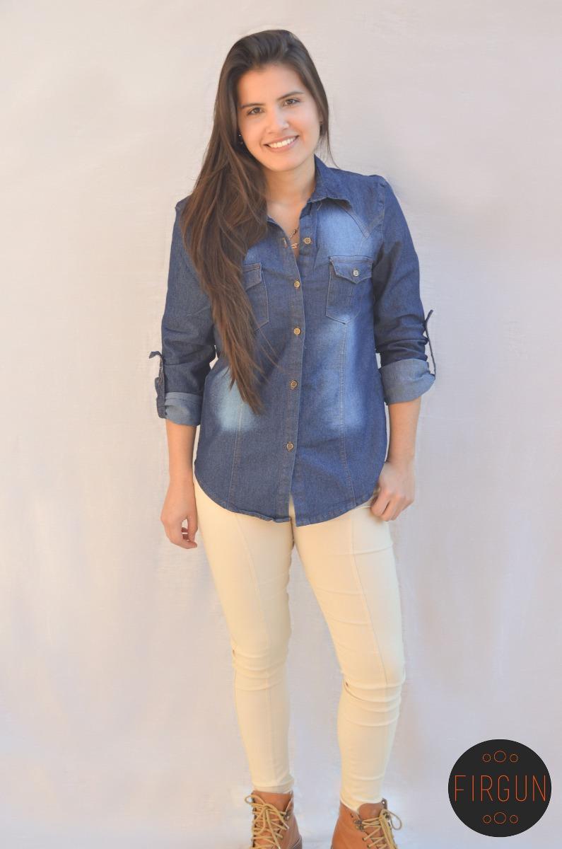 c16217b4a camisa de jean manga larga ropa mujer primera calidad firgun. Cargando zoom.