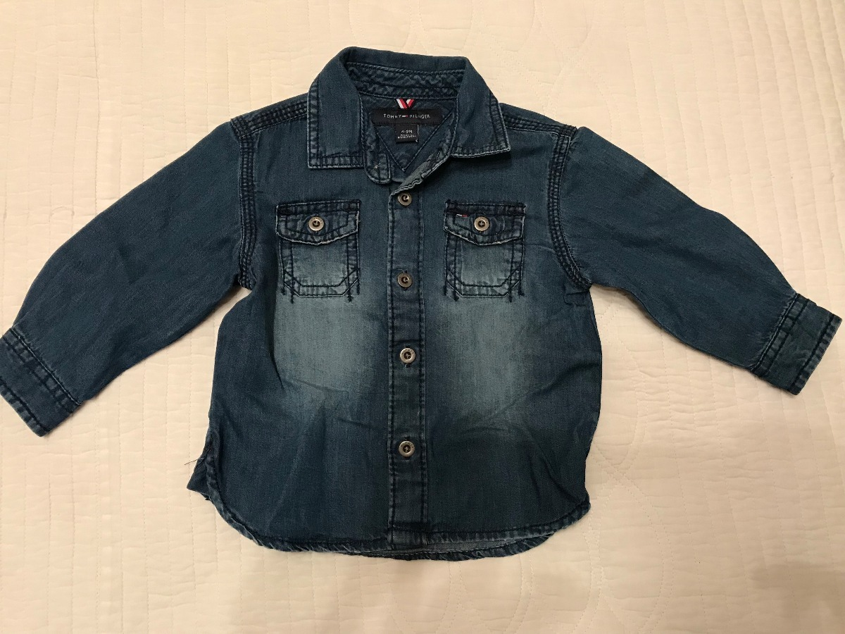 Camisa De Jeans Tommy Hilfiger Para Bebe. 6 A 9 Meses. -   500 25691662ef88f