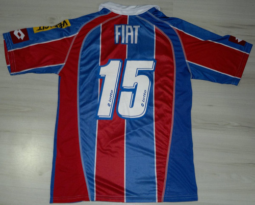 camisa de jogo bahia fiat - lotto n.15 tam. gg vedacit
