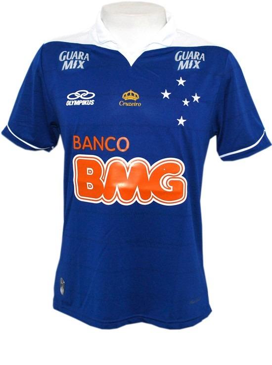 21000a290e0cb Camisa De Jogo Cruzeiro Olympikus 2013 Azul - R  180