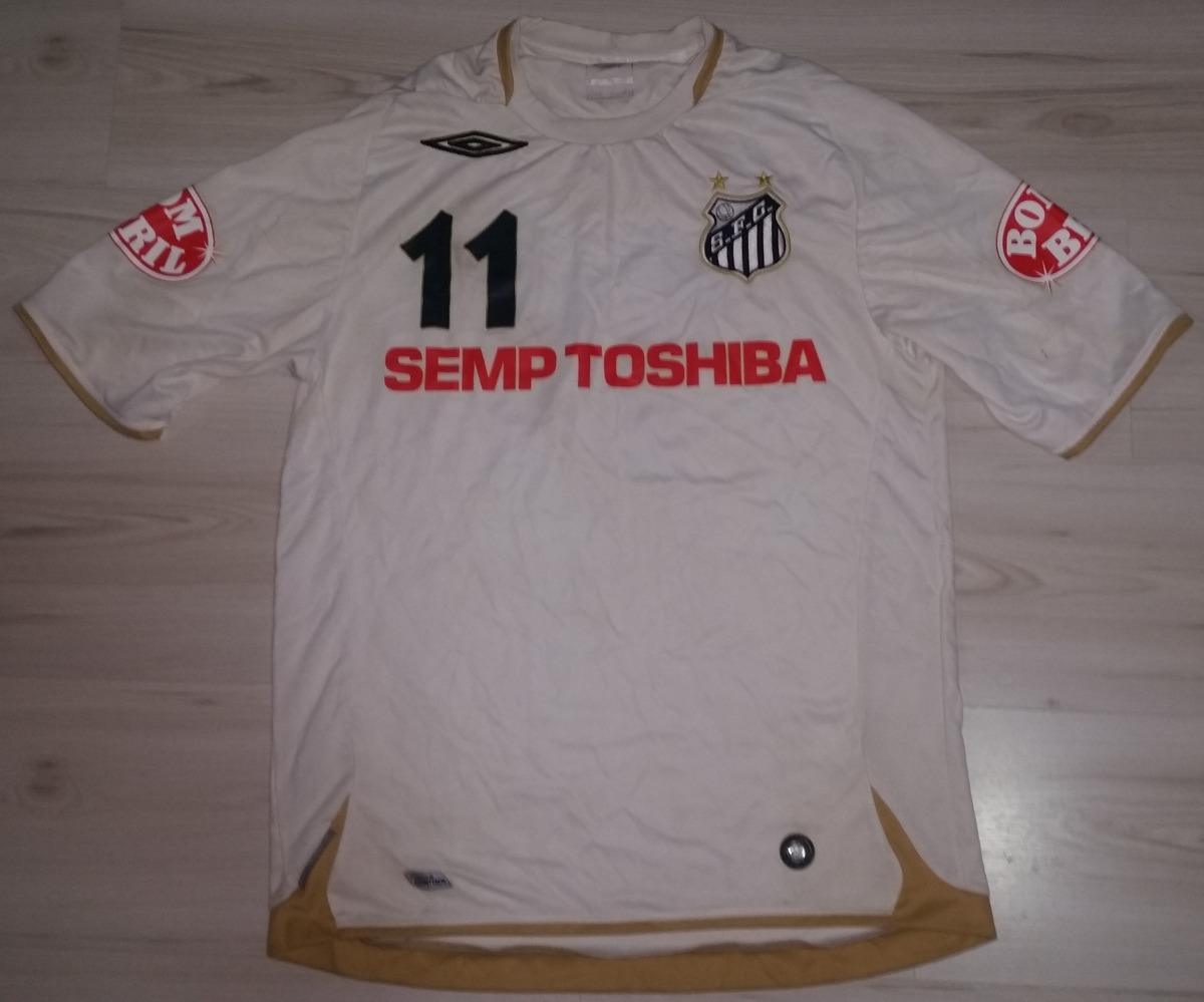 Camisa De Jogo Do Santos 2007 Semp Toshiba  11 Tam G Umbro - R  190 ... cbd05d56824a3