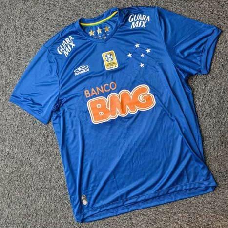 09e1b74ee7348 Camisa De Jogo Feminina Olympikus Cruzeiro 2014 C  Patch - R  175