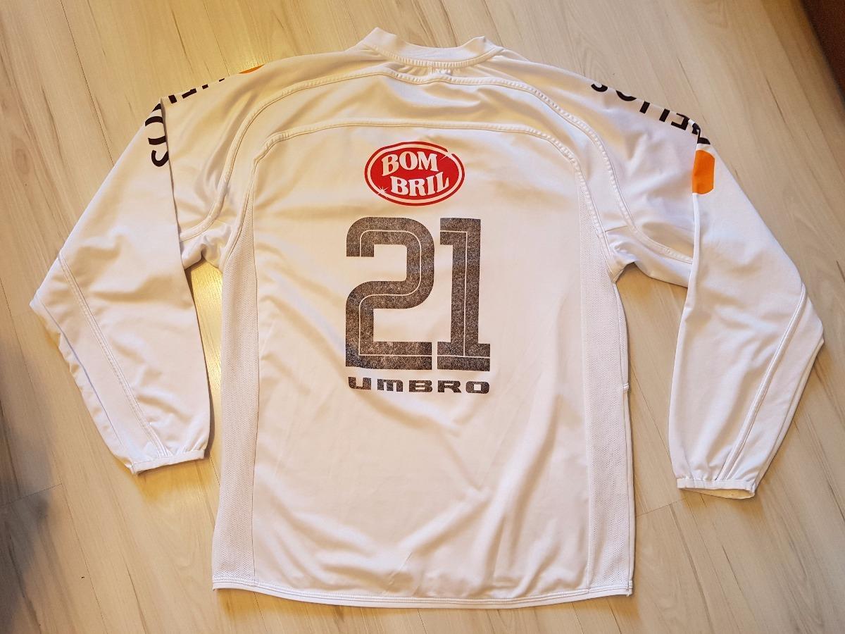 camisa de jogo santos 2004  21 manga longa helios umbro. Carregando zoom. 30a65763772dd