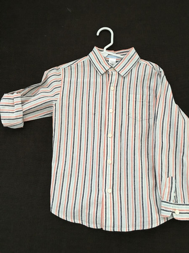 camisa de lino , janie and jack  , casual