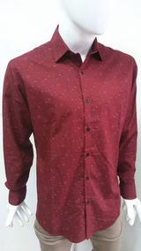 disfruta el precio más bajo nueva llegada ajuste clásico Camisa De Manga Larga Para Caballero Color Vino
