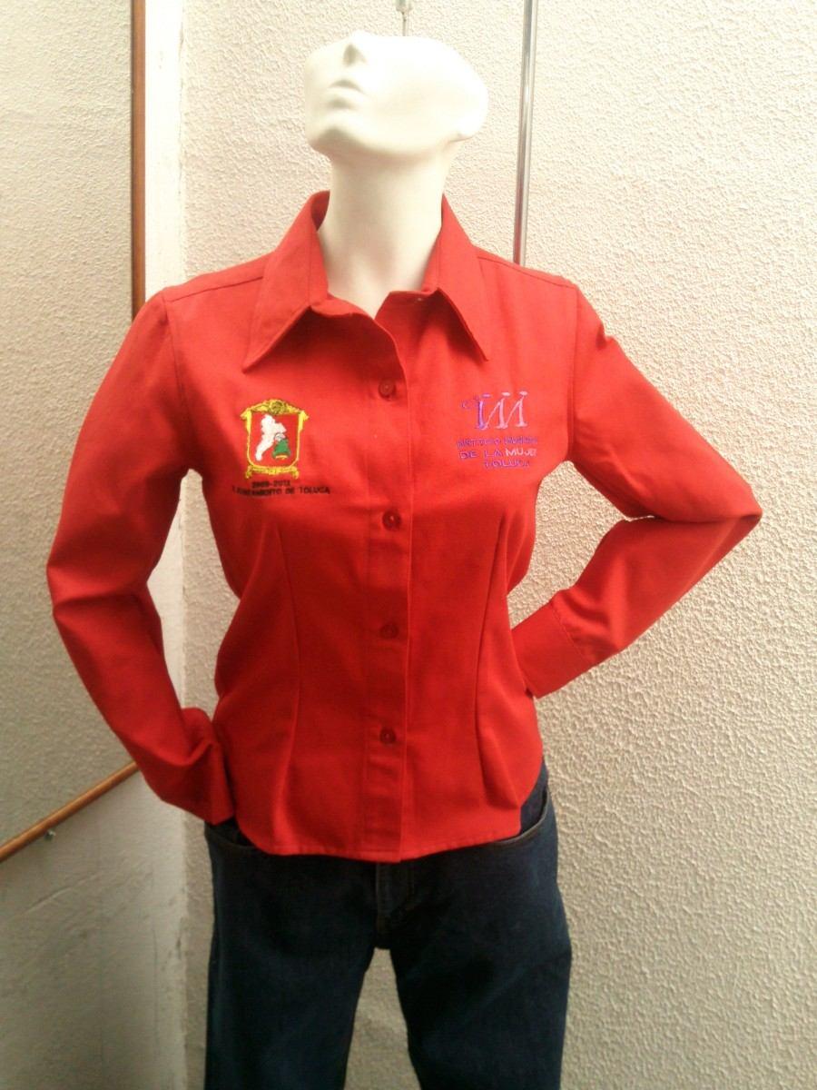 Camisa De Mezclilla Con El Logo Bordado De Tu Empresa -   240.00 en ... d07f230014fc0